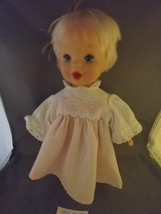 """1998 Hasbro 12"""" Baby Doll in Suitsuit Movable Arms Legs Blonde Hair Blue Eyes  - $8.00"""