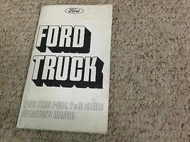 1975 Ford Lastwagen Lkws F100 F350 P & M Serie Betreiber Owners Manuell ... - $49.44