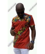 Odeneho Wear Men's  Polished Cotton/Ankara Patch Design. African Clothing - $75.23