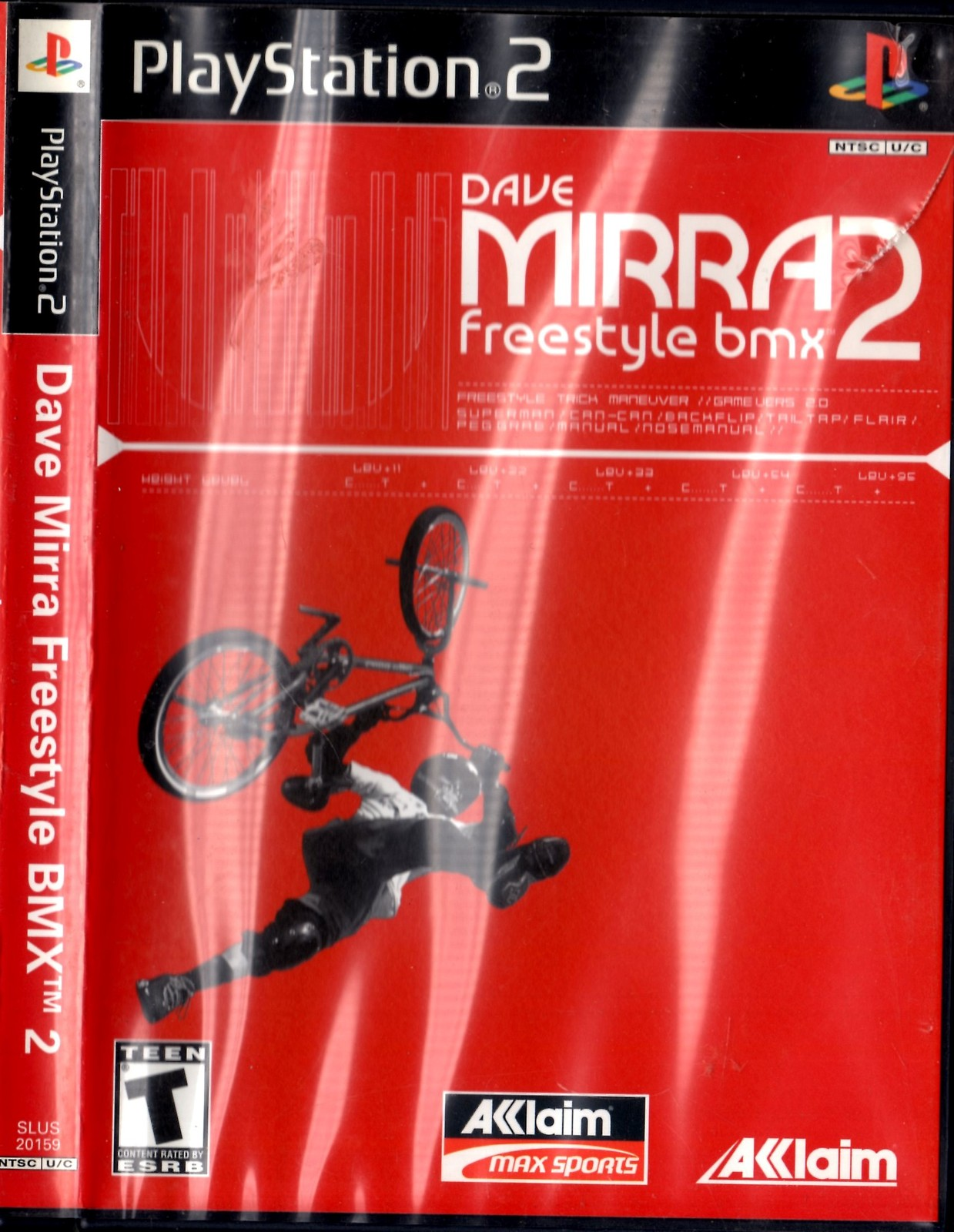 PlayStation 2 Dave Mirra: Freestyle BMX 2 (Video Game, Case, & Manual)