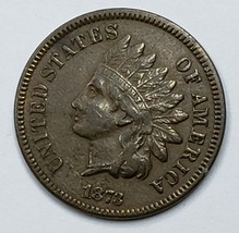 1873 Open 3 Indian Head Cent Penny Coin Lot 519-103