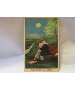 Antique Bamforth & Co. Published Postcard - Kissing Couple, Smiling Moon - $9.99