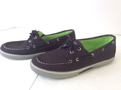 Sperry Top-Sider Halyard Blue Canvas Boat Shoes Kids Size 2.5 to Youth 6