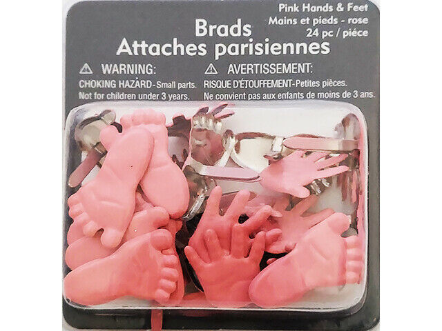 Michael's Pink Hand and Feet Brads