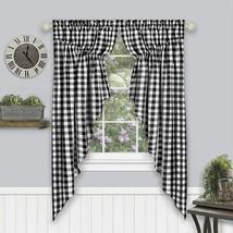 "Achim Home Furnishings Buffalo Check Gathered Swag Window Curtain Pair, 72"" x 63 - $49.02"