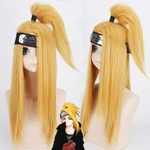 New Anime NARUTO Deidara Akatsuki Cosplay Wigs Halloween Party Stage Play - $37.83