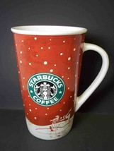 Starbucks Tall Holiday Take n go snowflakes mug 2007 - $12.55
