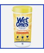 Wet Ones Antibacterial Hand Wipes Canister Citrus Tropical Splash 40 Count - $2.99