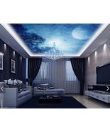 3D Blue Moon Forest WallPaper Murals Wall Print Decal Deco AJ WALLPAPER GB - $34.47+