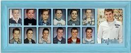"School Years Picture Frame 7 x 20  Personalized Preschool 2.5"" x 3.5""  Aqua - $94.95"