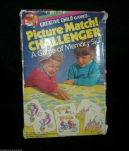 VINTAGE CREATIVE CHILD MEMORY MATCHING GAME 100% HERE PICTURE MATCH 1980... - $16.83