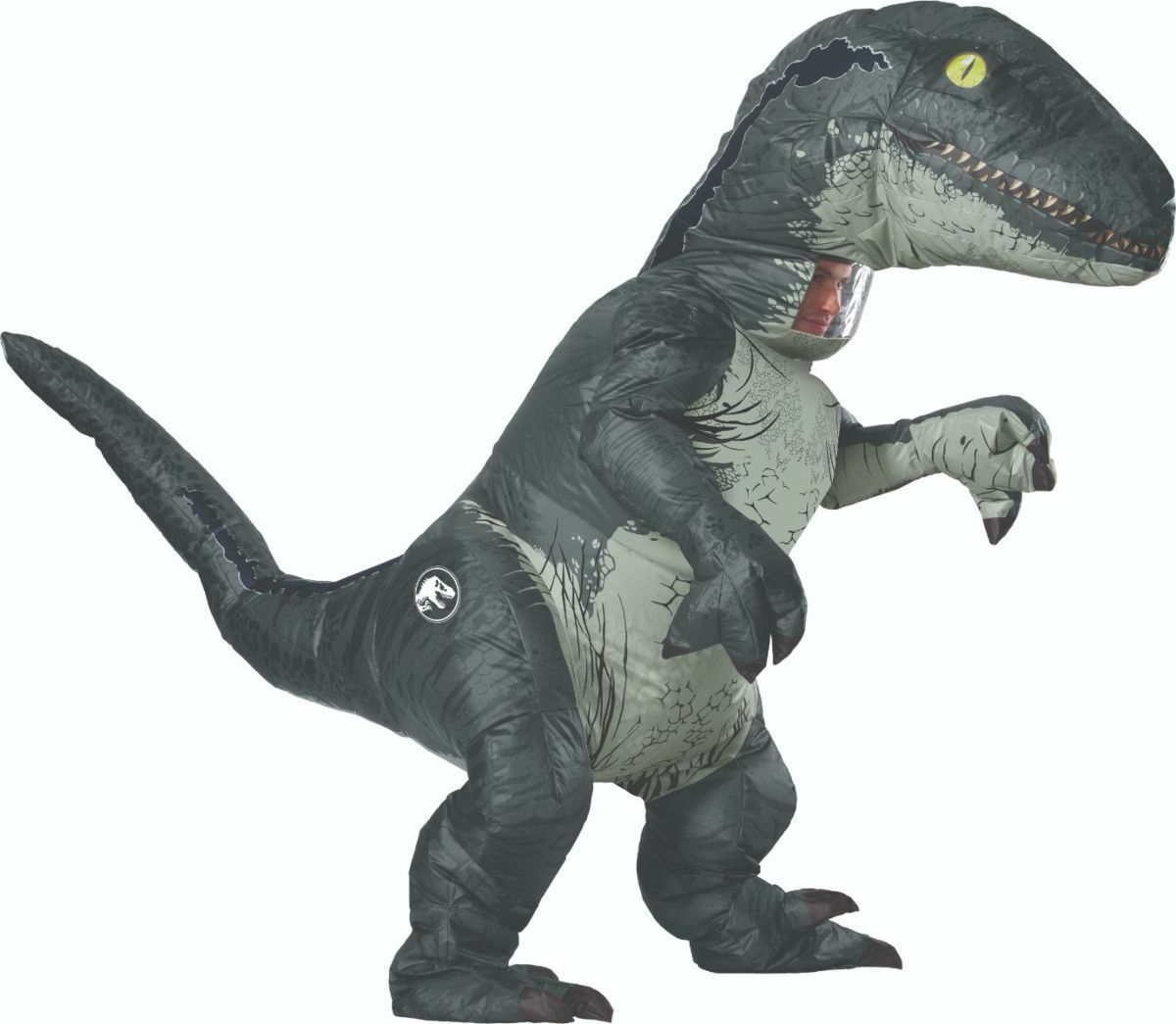 Rubini Jurassic World Velociraptor Gonfiabile Adulto Costume Halloween 820883 image 2