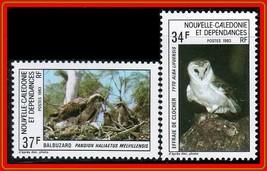 NEW CALEDONIA 1983 BIRDS of PREY MNH OWLS - $1.66