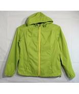 Eddie Bauer women's hoodie rain jacket green zipper long sleeve size M - $15.66