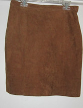 WINLIT AWESOME BROWN VINTAGE SUEDE LEATHER SKIRT SIZE JUNIORS 9 - $49.99
