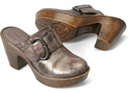 NIB Born Shoes Women's Ibra Platform Clogs Sandals, Moro Metallic, Size 7 M US - $79.19