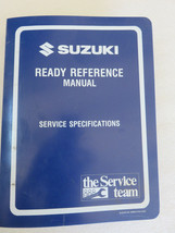 1995 Suzuki S Model Ready Reference Service Specifications Manual 99954-58950 - $11.62