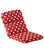CC Home Furnishings Red White Dot Outdoor Patio Chair Seat Back Cushion - $73.00