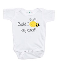 Custom Party Shop Baby's Could I bee any cuter? Onepiece 3-6 Months Yellow and B - $17.64