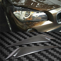 Carbon Fiber Car Headlight Cover Eyebrows Eyelid Trim Decals Fit For BMW... - $69.29