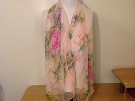Peony Sheer Fabric Scarf, pastel colors of your choice image 9