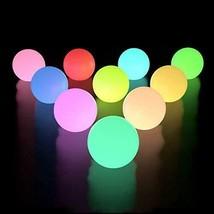 LOFTEK Floating Pool Lights 10 Packs with Timer RGB Color Changing LED B... - $39.22
