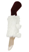 NEW Yelete Cropped Faux Fur Furry Leg Warmers Ball Tassels Fluffies Boot... - $17.99