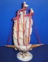 Sea Shell 3 Mast Sailboat Sailing Yacht Ship Schooner Vessel Seashells S... - $7.95