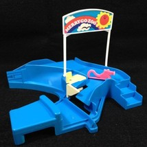Playrail by Tomy 1978 Merry-Go-Zoo Replacement Part Blue Entrance with S... - $11.88