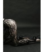 NEW Yelete Stirrup Floral Web Fishnet Pantyhose Tights Nylon Hosiery Sto... - $10.99