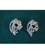 Vintage Rhinestone Scatter Pin Pair ~ Clear Ice ` Foil Back - $10.00