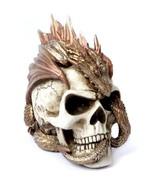 "Detailed Dragon Keeper's Skull Resin Statue Decor 8"" High V72 Alchemy Go... - $59.95"