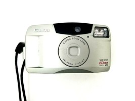 Canon Sure Shot 60 Zoom DATE SAF 35mm Film Camera w/Canon Zoom Lens 38-60mm - $20.53