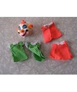 Mattel Liddle Kiddles Komedy Theatre Clown Head & Clothes 1968 Unused - $32.99
