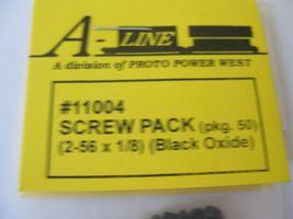 "A-Line #11004  Screw (2-56 x 1/8"") Black Oxide pack of 50 image 3"