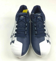Under Armour Yard Low St Baseball Cleat Men's Shoe Size 9.0 Navy White 3000353 - $62.36