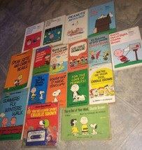 VTG LOT 17 Peanuts Charlie Brown Snoopy Books Paperback Hardcover Comics - $56.95