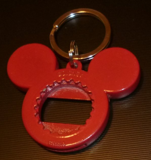red mickey mouse shape head twist bottle opener keyring key chain disney world keychains. Black Bedroom Furniture Sets. Home Design Ideas