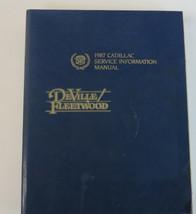 1987 Cadillac Service Information Shop Manual Deville Fleetwood Used OEM  - $22.46