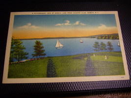 Vintage Postcard of Seneca Lake Country Club Geneva NY image 1