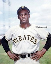 MLB 1957 Pittsburgh Pirates Roberto Clemente Color Portrait 8 X 10 Photo... - $6.99