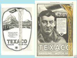 Lot Of 2 Magazine Ads For Texaco Gasoline And Motor Oil - $8.90