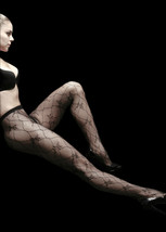 Yelete Chain Links Bow Fishnet Pantyhose Tights Nylons Spandex Hosiery S... - €9,70 EUR
