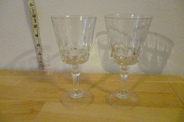 "Set of Two Wine Goblets 6 1/2"" Tall Vintage - $15.00"