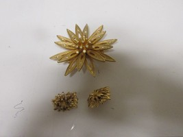 "Costume Jewelry ,Vintage, Starburst Pin , Earrings , 3"" X 3"" & 11/2"" X 1"" - $25.00"