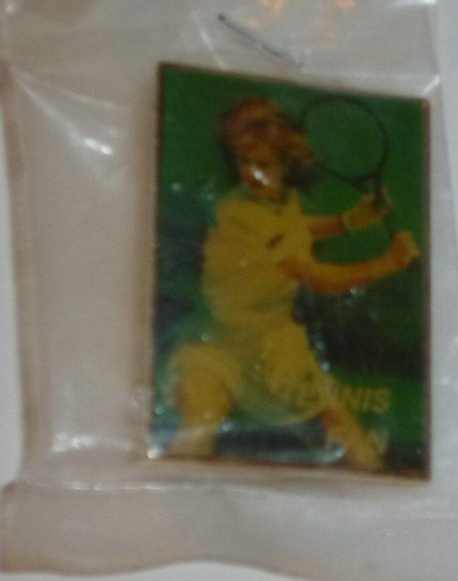 """TENNIS FAN tennis player PIN 1.5"""", mint in package"""