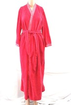 Vintage Sears One Size Velour robe pink long sleeve - $25.00