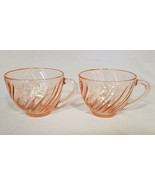 VINTAGE ARCOROC FRANCE PINK COFFEE CUPS (2) - $6.00