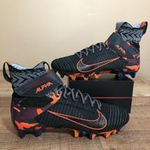 Nike Alpha Menace Elite 2 Football Cleats AV5357-002 Black Orange Camo m... - $102.84