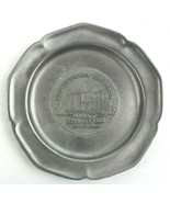 Football Hall of Fame Canton Ohio Pewter Collectors Plate 1982 - $27.08